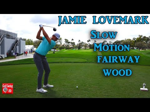 JAMIE LOVEMARK 120fps DTL SLOW MOTION FAIRWAY WOOD GOLF SWING 1080 HD
