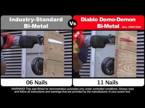 Diablo Demo Demon Reciprocating Saw Blades - 5-Pk., 6in.L, 6/12 TPI, Model# DS0612BW5