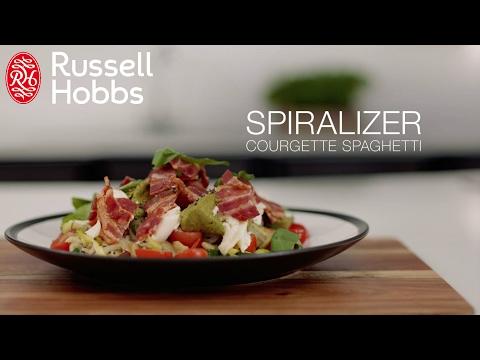 Hur man gör en zucchinisallad med hjälp av Russell Hobbs Ultimate Spiralizer (lång)