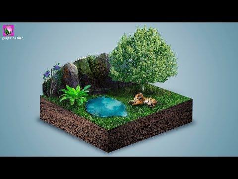 3D Land Photomanipulation In Photoshop - Photoshop Photomanipulation Tutorial - Photoshop CC