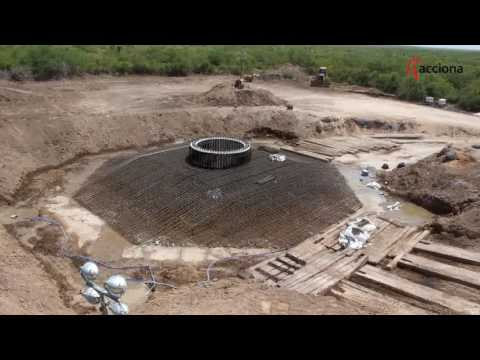 Want to know how a wind turbine foundation is made?