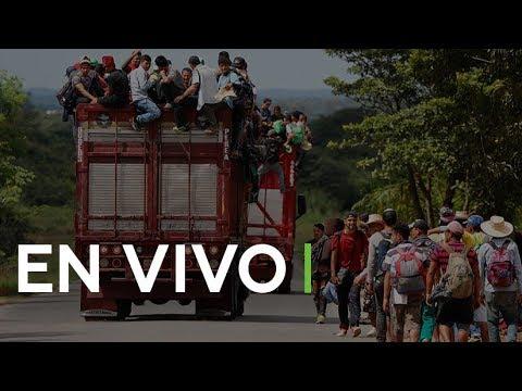 Miles de migrantes centroamericanos continúan su viaje hacia EE.UU.