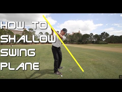 How to Shallow Your Golf Swing Plane - 60 Sec. Golf Tips