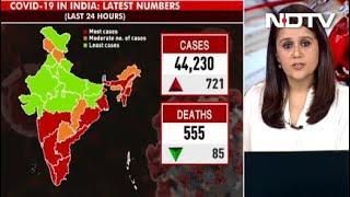 Coronavirus News: India Records 44,230 Fresh Covid Cases, 555 More Fatalities - NDTV