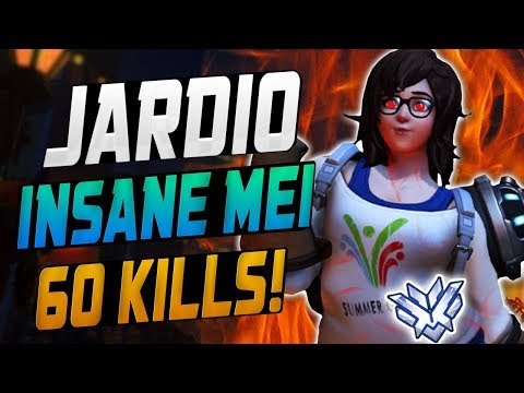 JARDIO INSANE MEI! 60 ELIMS! [ OVERWATCH SEASON 11 TOP 500 ]