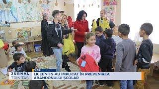 Liceenii s-au implicat in prevenirea abandonului scolar