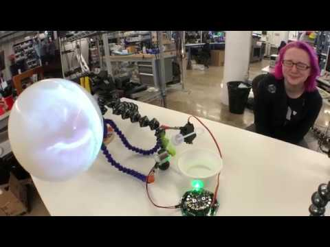 bubble sort @adafruit #CRICKIT & @CircuitPython animated audio animatronics
