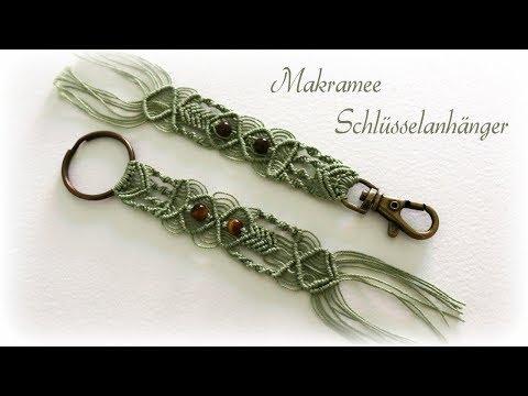 Makramee Schlüsselanhänger #2 * DIY * Macrame Keychain #2 [eng sub]