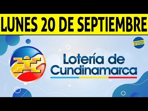 Resultados Lotería de CUNDINAMARCA Lunes 20 de Septiembre de 2021 | PREMIO MAYOR