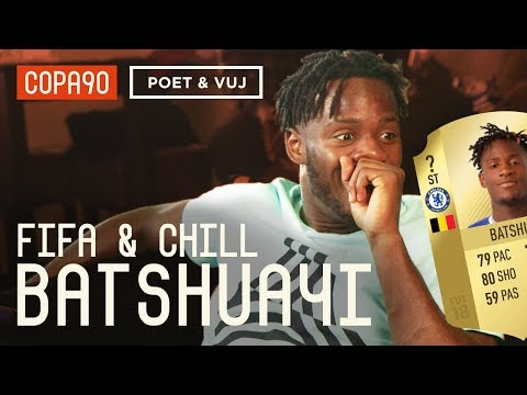 Exclusive: Batshuayi Reacts to his FIFA 18 Rating | FIFA and Chill ft. Poet and Vuj