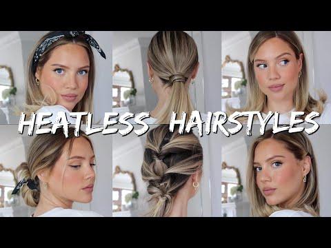 14 Heatless Hairstyles | Time Saving Hairstyles | Elanna Pecherle 2020