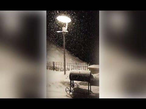 Mayıs ayında kar sürprizi! Lapa lapa yağdı