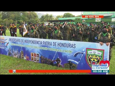"""Con fervor SPS conmemora el #BicentenarioHonduras en la """"105 Brigada"""" #EnHCHllevamosaenel"""