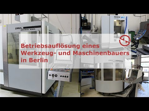 Online-Versteigerung! Maschinenbauer Berlin im Juli 2021