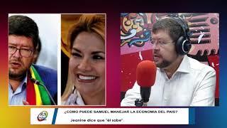 Samuel Doria dice que hace campaña solo y es perjudicial tener a Jeanine Áñez solo fines de semana.