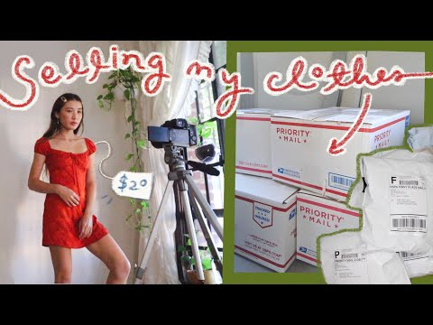 Video: how i sell clothes online 💸 photos, listings, shipping + more