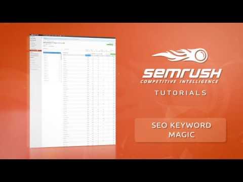 SEMrush Keyword Magic Tool Tutorial