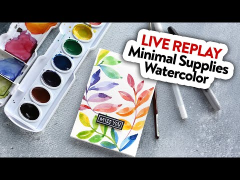 🔴 LIVE REPLAY! Easy DIY Watercolor Leaves with Minimal Supplies