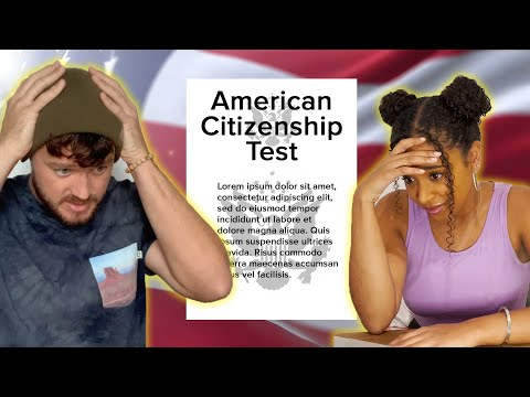 American Citizens Take The US Citizenship Test