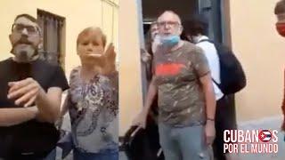 Cubanos en Italia enfrentan a un grupo de comunistas italianos