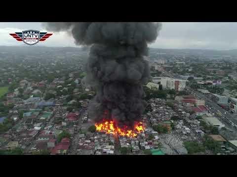 WATCH: Fire at Barangay Santo Domingo, Cainta, Rizal has reached 5th alarm.