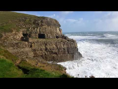 view Storm Brian at Tilly Whim Caves and Peveril Point at Swanage