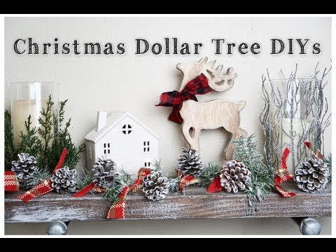 DOLLAR TREE DIY CHRISTMAS DECOR | EASY HOLIDAY DECOR | Momma from scratch