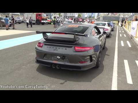 Porsche 991 GT3 with Akrapovic Exhaust SOUND - In Action