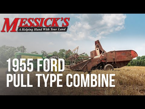 1955 Ford Pull Type Combine Picture