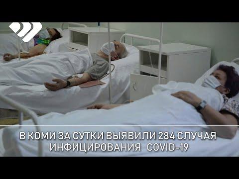 В Коми за сутки подтверждено 284 новых случая инфицирования КОВИД 19, умерло три человека