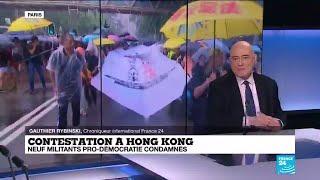 Hong Kong : neuf militants pro-démocratie condamnés pour rassemblement illégal
