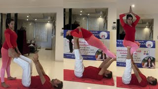 Actress Sanjjanaa Galrani Yoga Latest Video   Sanjjanaa Galrani Latest Video   TFPC - TFPC