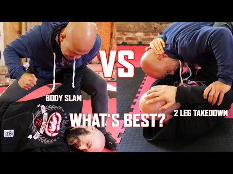 Body slam VS 2 leg takedown in Self defence combat which one is more effective? | Master Wong