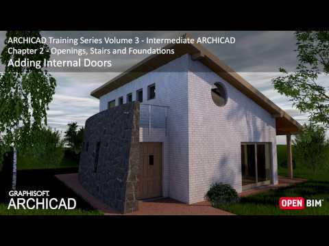 Adding Internal Doors - ARCHICAD Training Series 3 – 16/52