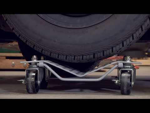 Roughneck Wheel Dollies - Pair, 1,500-Lb. Capacity