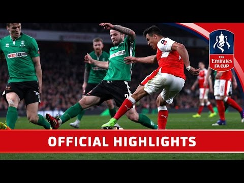 Arsenal 5-0 Lincoln - Emirates FA Cup 2016/17 (QF)   Official Highlights