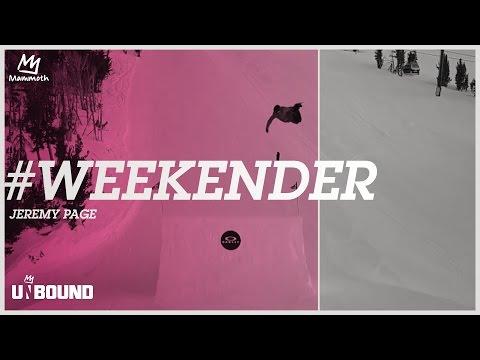 #WEEKENDER - JEREMY PAGE