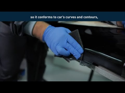 Car paint blending and fadeout with Norton BearTex Thinflex