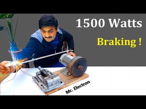 180v DC Motor to 1500W Flywheel Generator | Regenerative Braking 1.5 kw