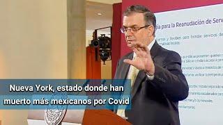 Casi mil mexicanos han muerto en EU por Covid-19
