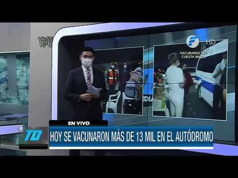 Vacunaron a más de 13 mil personas en el Rubén Dumot este miércoles