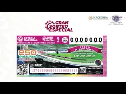 Estos serán los premios a rifar este 15 de Septiembre por parte de la Lotería Nacional.