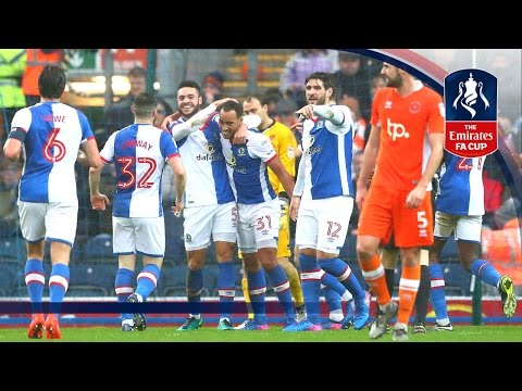 Blackburn Rovers 2-0 Blackpool - Emirates FA Cup 2016/17 (R4) | Official Highlights