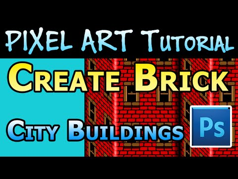 Pixel Art Tutorial - How to make City Building background tiles