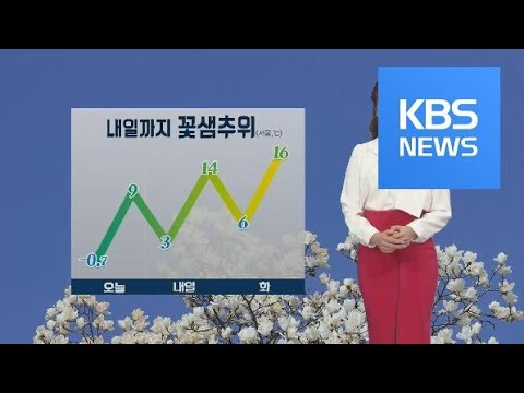 [날씨] 전국 맑고 공기 깨끗, 내일 낮부터 기온 올라 / KBS뉴스(News)