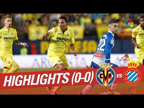 Resumen de Villarreal CF vs RCD Espanyol (0-0)