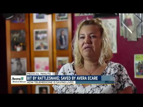 Bit by a rattlesnake, saved by Avera eCARE - Medical Minute