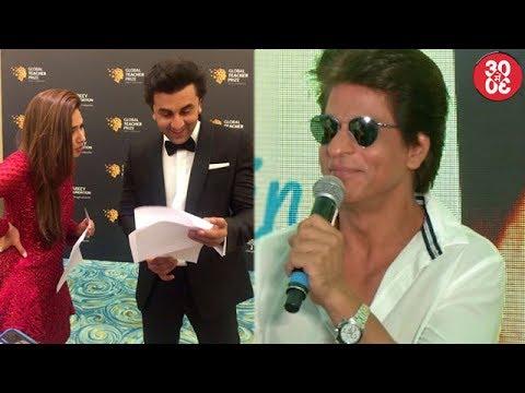 Mahira Loses Her Cool On Linkup With Ranbir | Shahrukh-Anushka Witty Ans At 'JHMS' Song Launch
