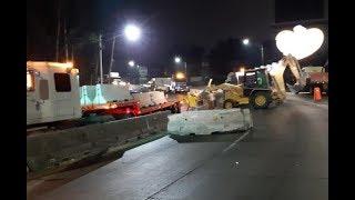 Realizan trabajos de reparación en la bajada de Villalobos