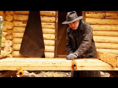The Off Grid Sauna Log Cabin Door | Woodworking DIY with Hand Tools